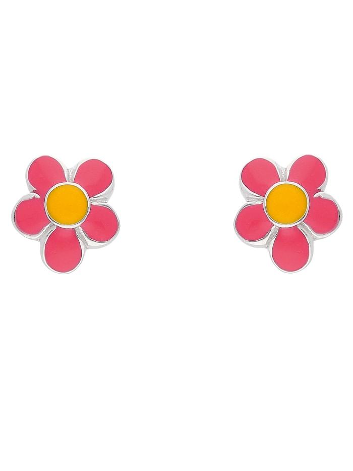 1001 Diamonds 1001 Diamonds Damen Silberschmuck 925 Silber Ohrringe / Ohrstecker Blüte - rosa, silber