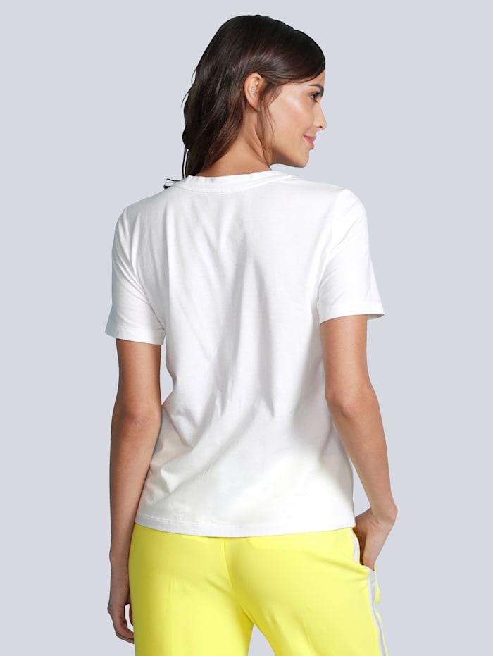 T-Shirt mit vielen tonalen Pailletten besetzt
