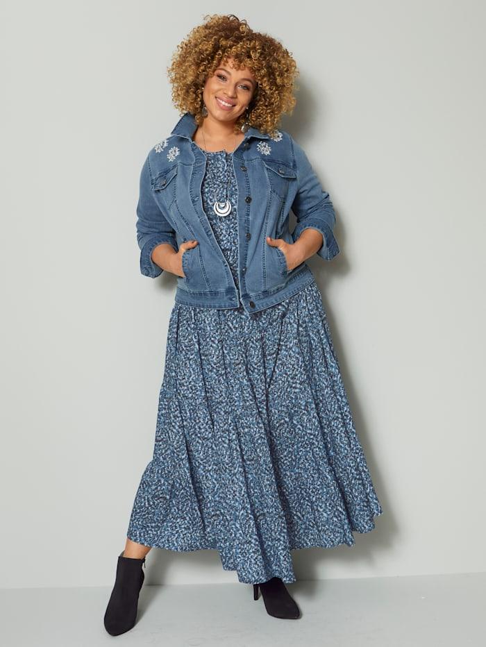 Jeansjacka med strass