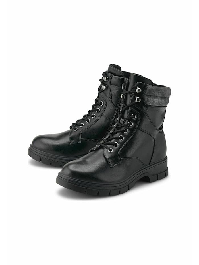 COX Schnür-Boots Schnür-Boots, schwarz