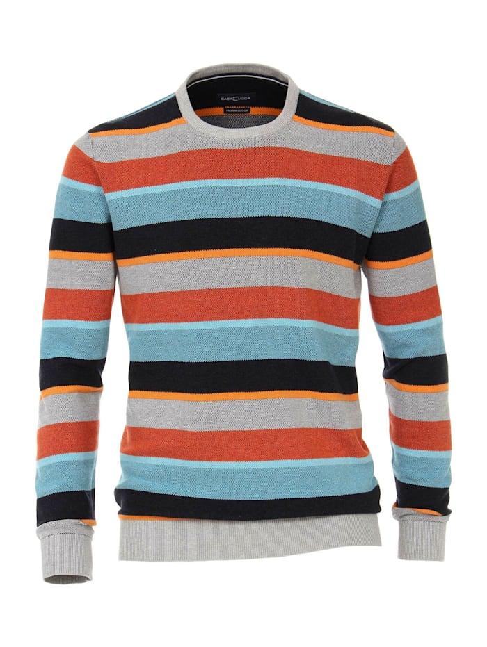 CASAMODA Pullover mit Rundhalsausschnitt andere Muster, Orange
