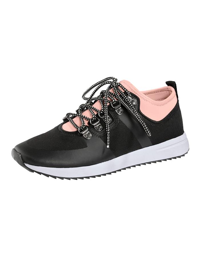 Sneakers av elastiskt textilmaterial