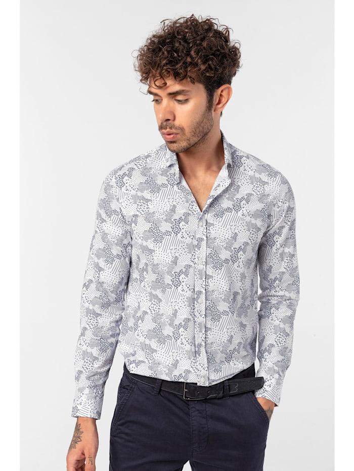 Hemd Romano mit abstraktem Muster-Mix