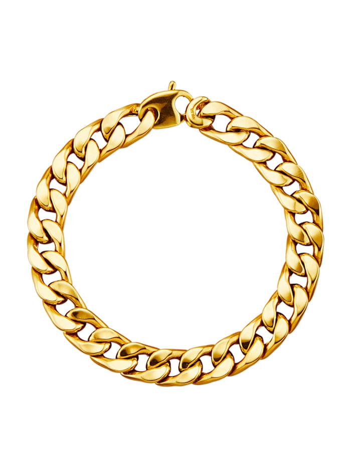 Bracelet maille gourmette en or jaune 375, Coloris or jaune