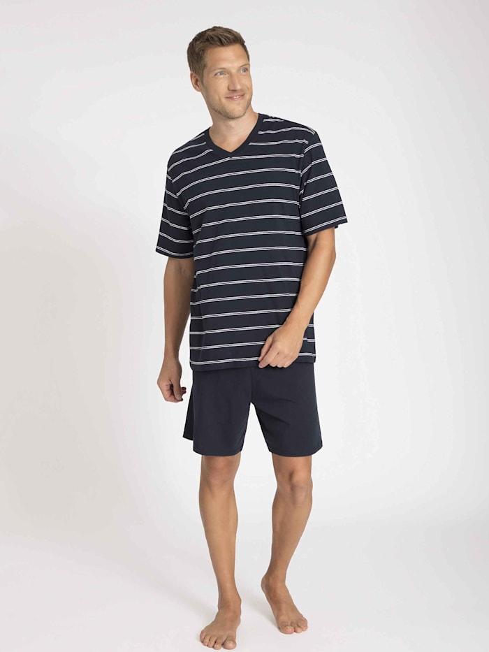 Kurz-Pyjama, V-Neck Ökotex zertifiziert