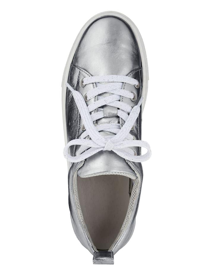 Sneakers i trendig metallic-look