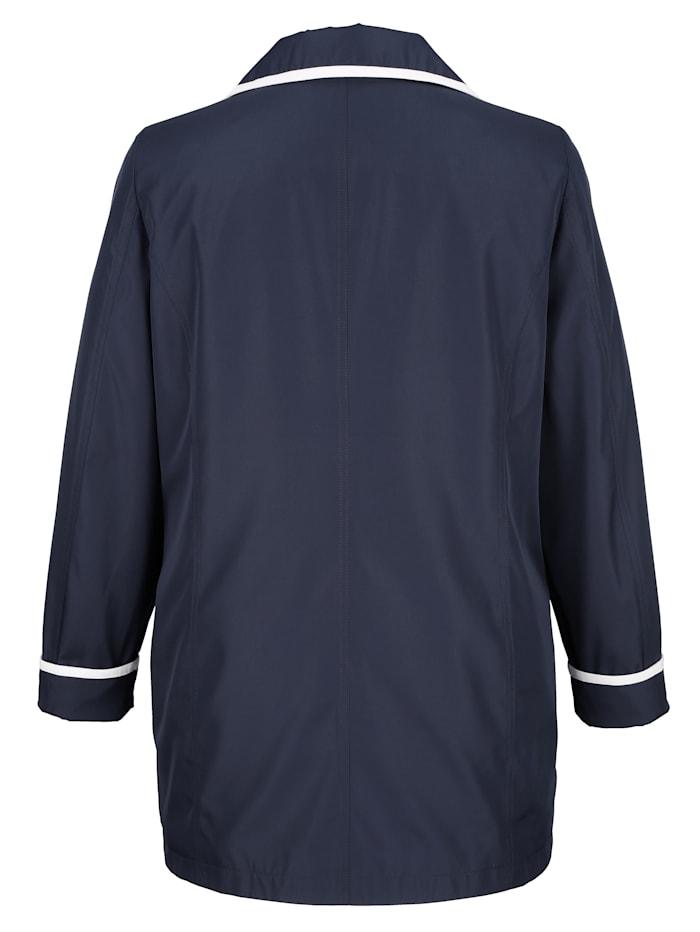 Jacke mit kontrastfarbiger Paspelverarbeitung