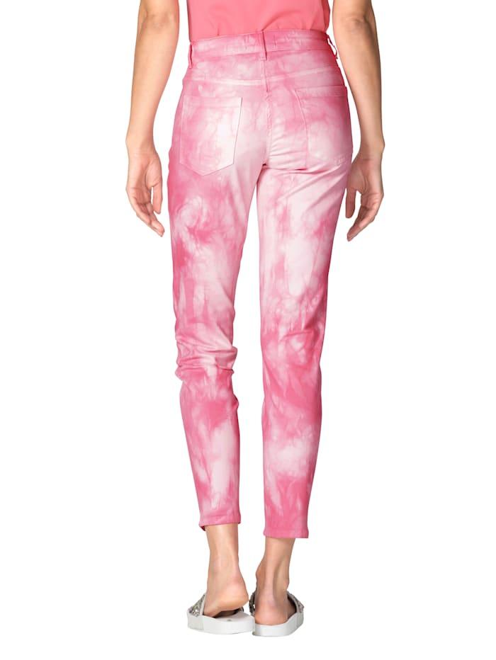 Hose mit Batik-Muster allover