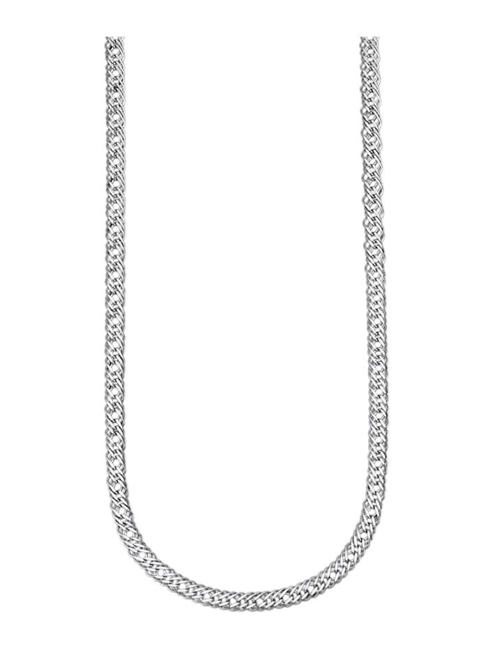 Halskette diamantiert, Silberfarben