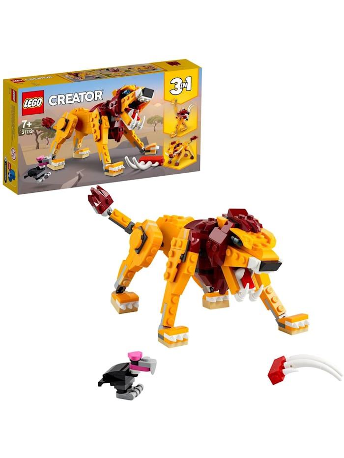 LEGO Konstruktionsspielzeug Creator Wilder Löwe, bunt/multi