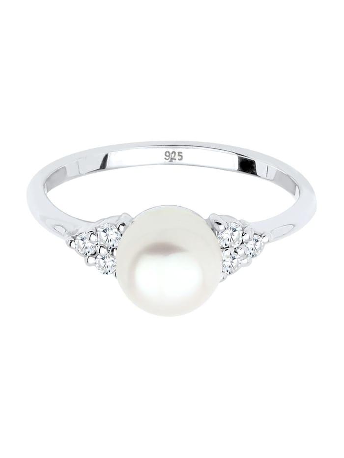 Ring Üßwasserzuchtperle Zirkonia 925Er Silber