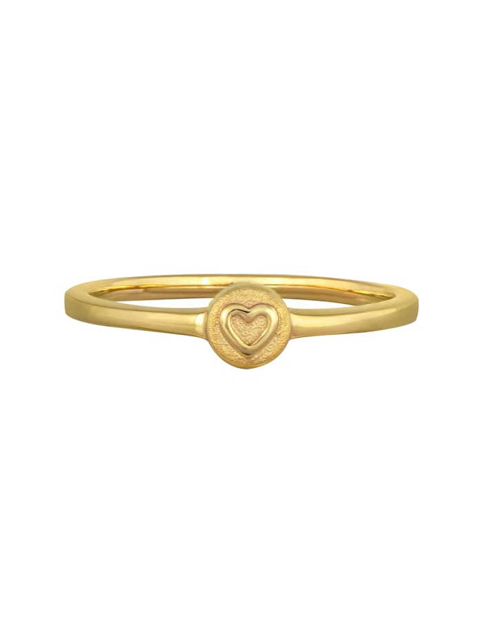 CAI Ring 925/- Sterling Silber ohne Stein rotvergoldet, gelb