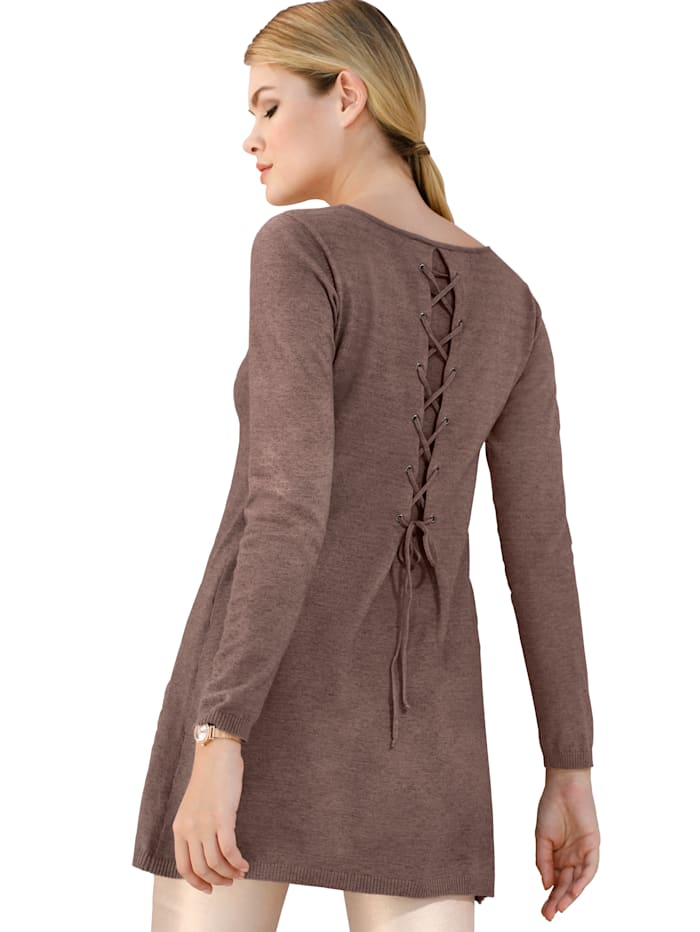 Pullover mit Schnürung im Rücken