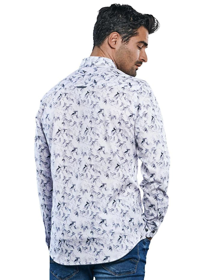 Langarm-Hemd mit floralem All-Over-Print
