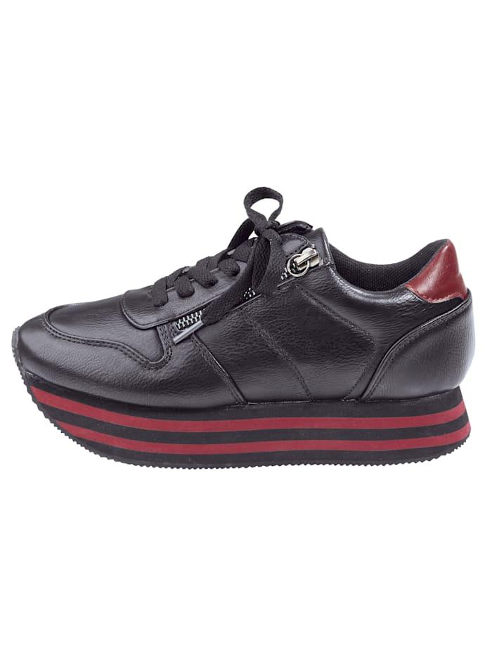 Sneaker met bicolor EVA-plateauzool