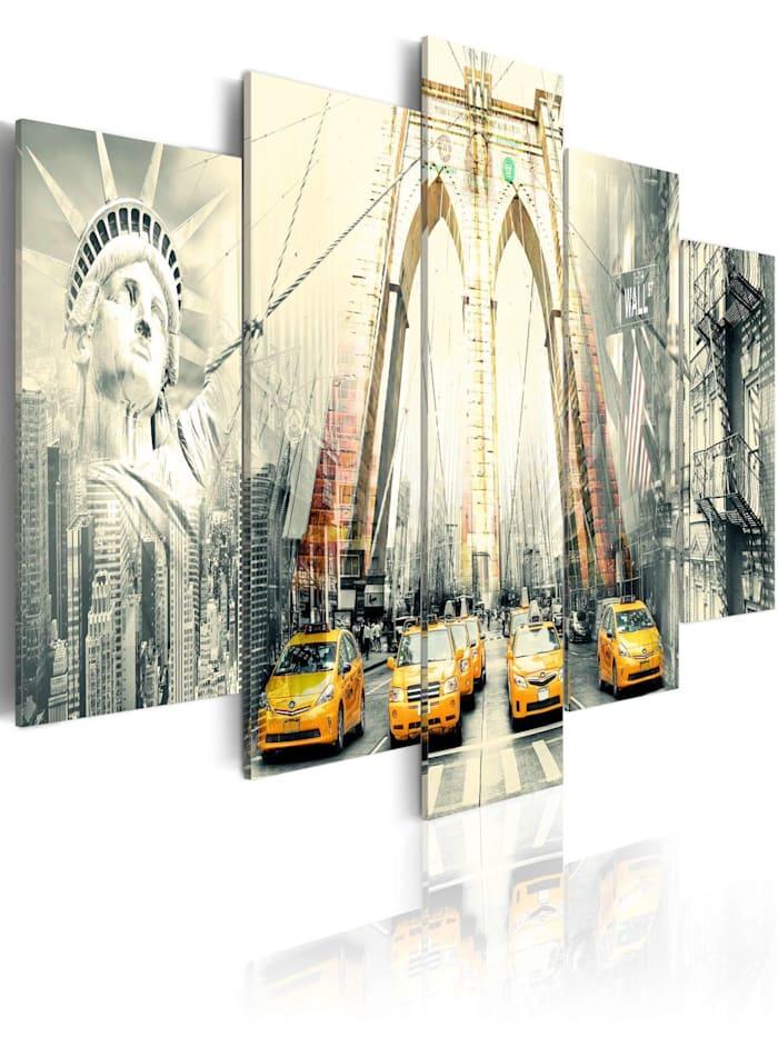 artgeist Wandbild Amerikanische Metropolie, Grau,Beige,Gelb