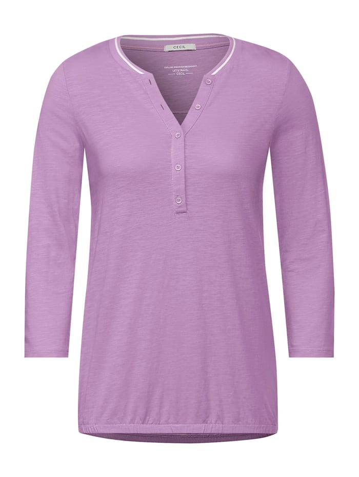 Cecil Shirt mit Flammgarn, soft violet