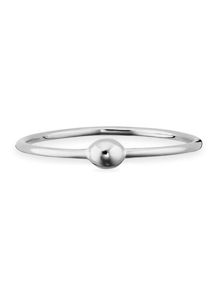 CAI Ring 925/- Sterling Silber ohne Stein rhodiniert 925/- Sterling Silber, weiß
