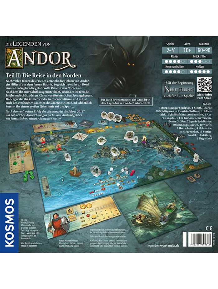 Brettspiel Die Legenden von Andor - Teil II: Die Reise in den Norden