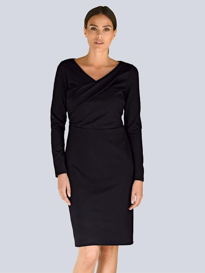 Alba Moda Kleid mit Wickeleffekt, Schwarz