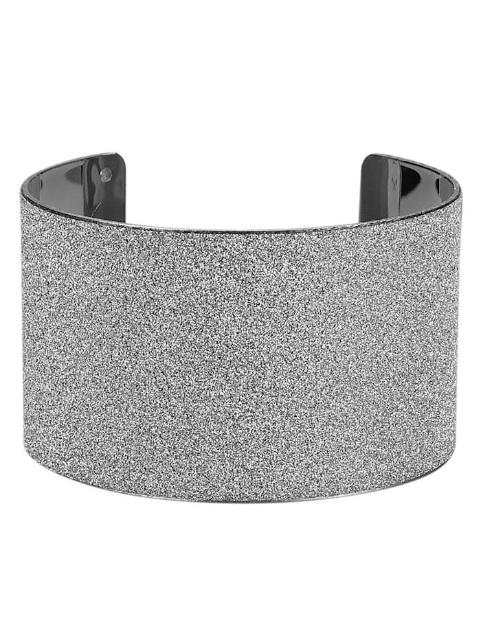 KLiNGEL Armspange mit Glitzer, Silberfarben