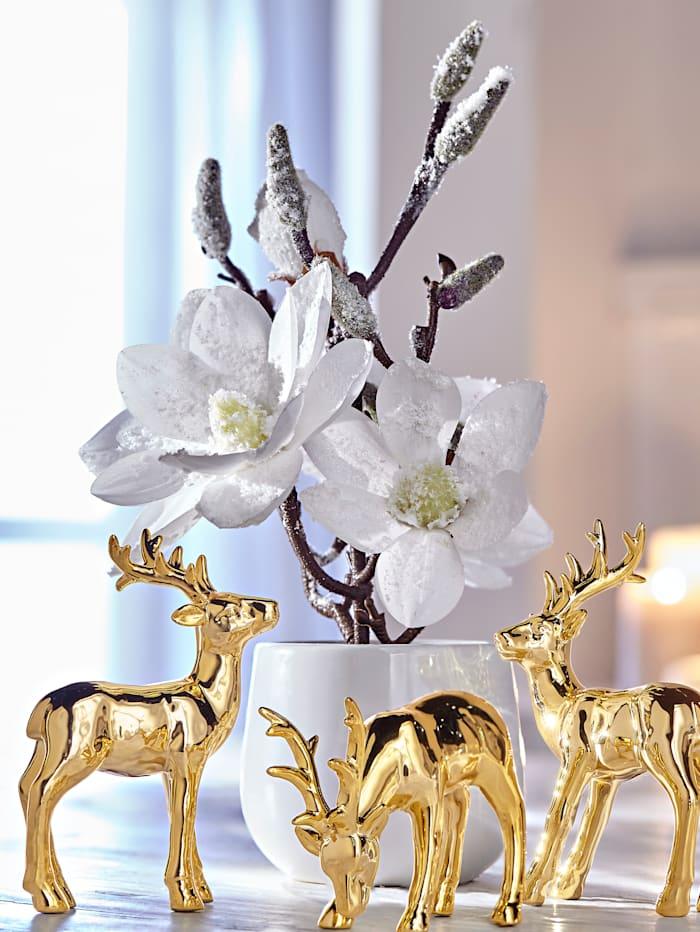 Globen Lighting Magnolie im Topf, weiß