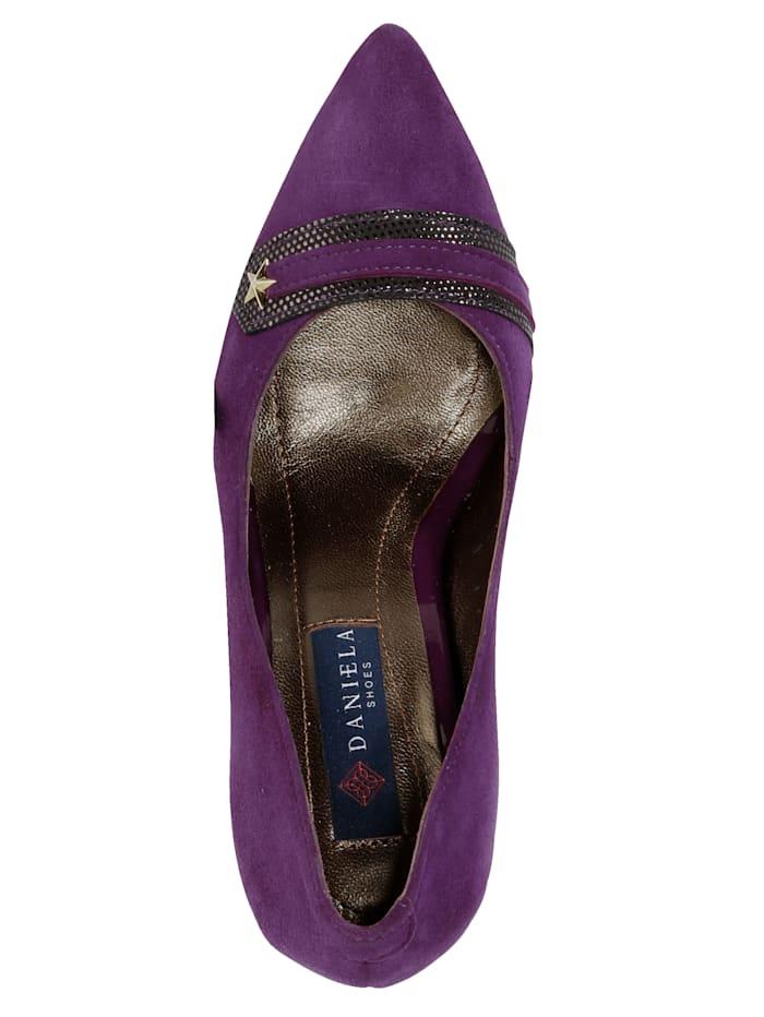Court Shoes with stripe appliqué