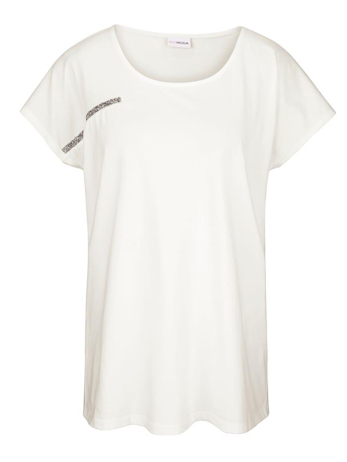 Shirt met glinsterende sierband voor