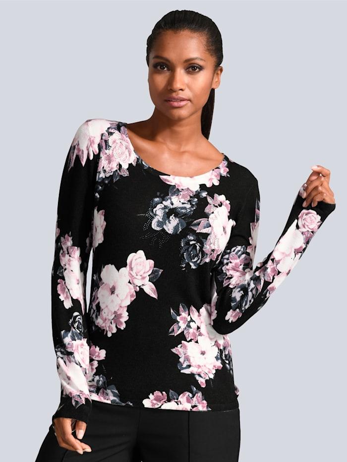 Pullover dekorativ mit Strass verziert