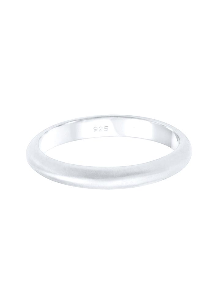 Ring Basic Minimal Matt 925 Sterling Silber