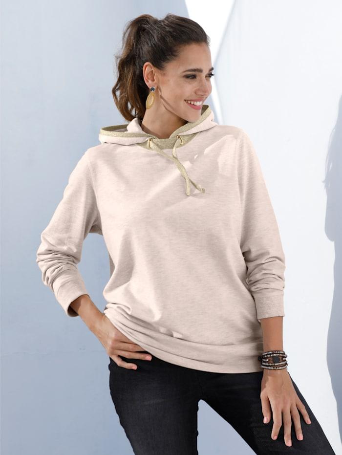 Sweatshirt mit Glitzerpiping an Kapuze