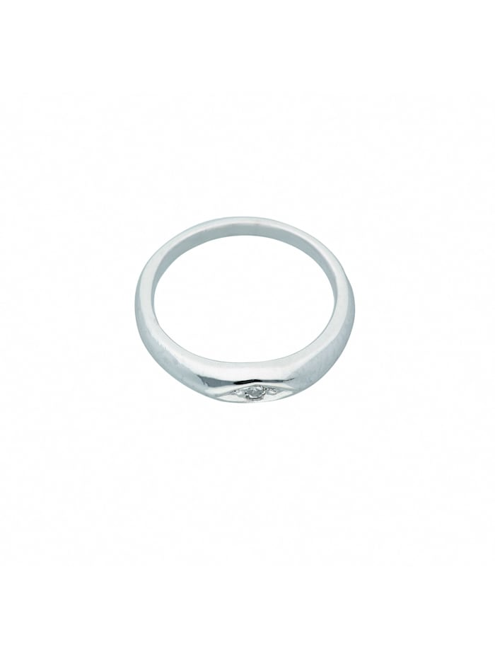 1001 Diamonds Damen Weißgoldschmuck 585 Weißgold Anhänger mit Diamant Ø 10,5 mm, silber