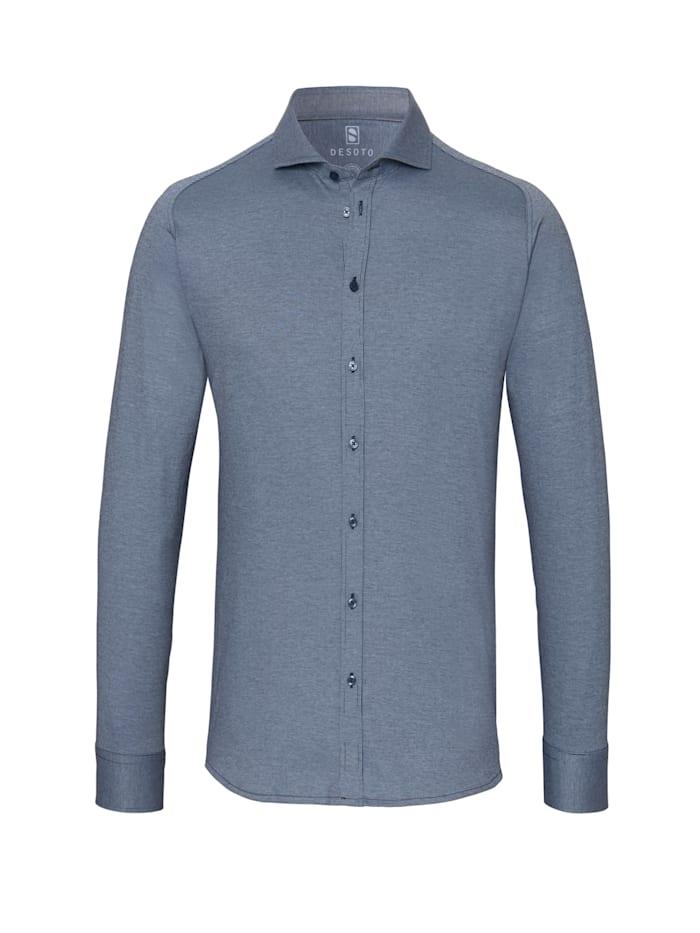 Desoto Jerseyhemd - Bügelfrei, Cotele blue