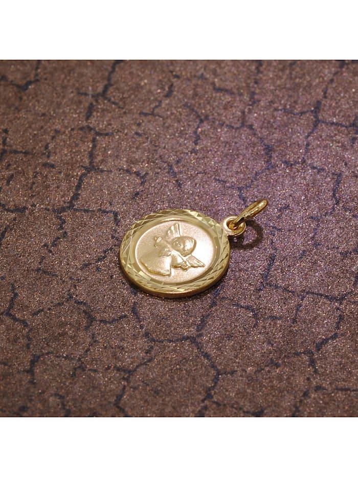 Kinder-Anhänger Engel 333 Gold/8 Karat 12 mm