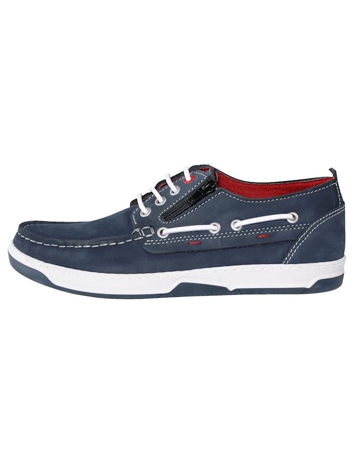 Šnurovacia obuv s bočným zipsom