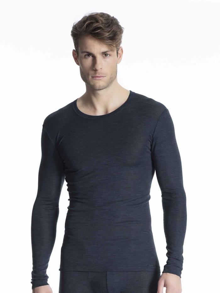 Langarm-Shirt aus Wolle und Seide Ökotex zertifiziert