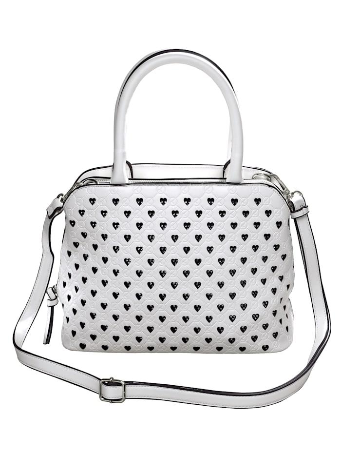 Tamaris Handtasche mit Perforation in Herzform, weiß-kombi