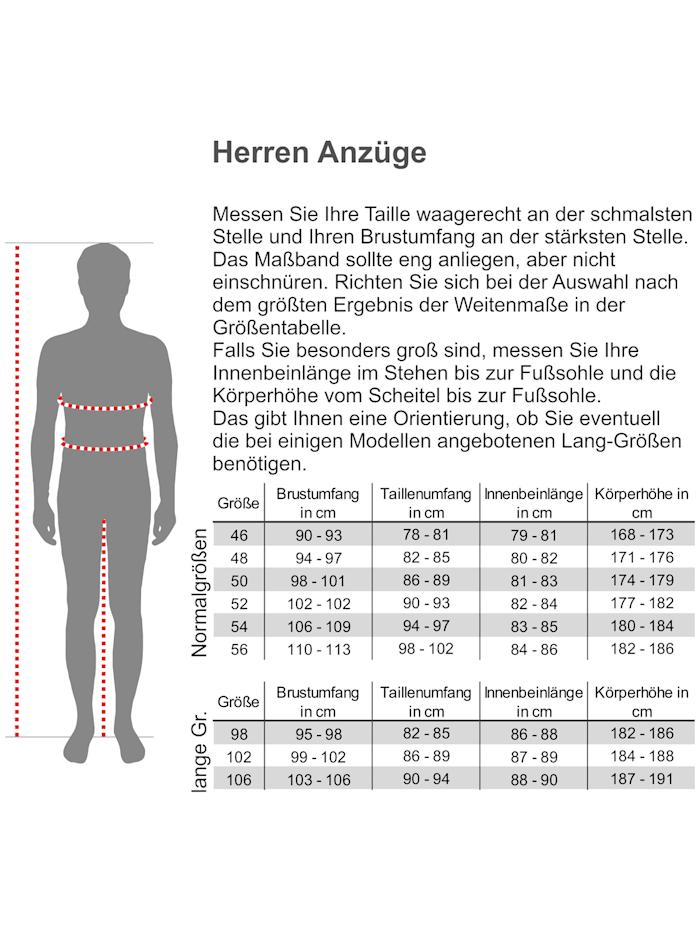 Steffen Klein Herren Anzug Slim-Fit kariert