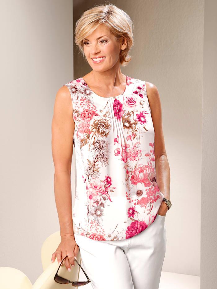 Paola Topje met bloemenprint, Wit