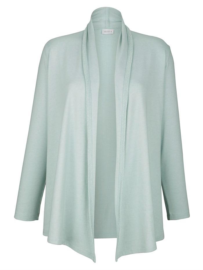 Tričkový kabátik s lesklým vláknom