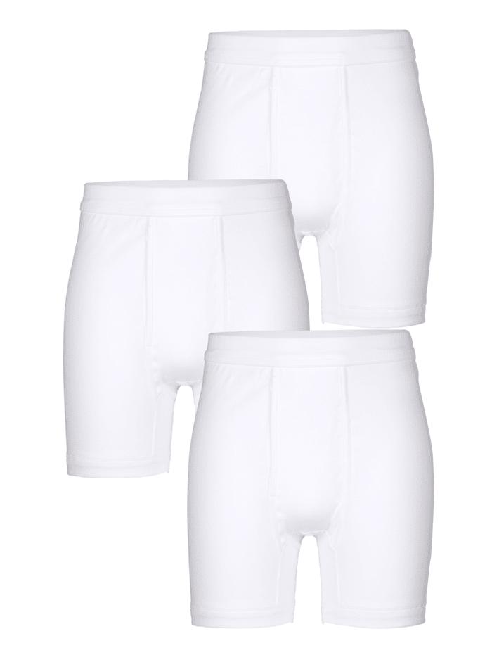 Pfeilring Boxershorts van merkkwaliteit, wit fijngeribd