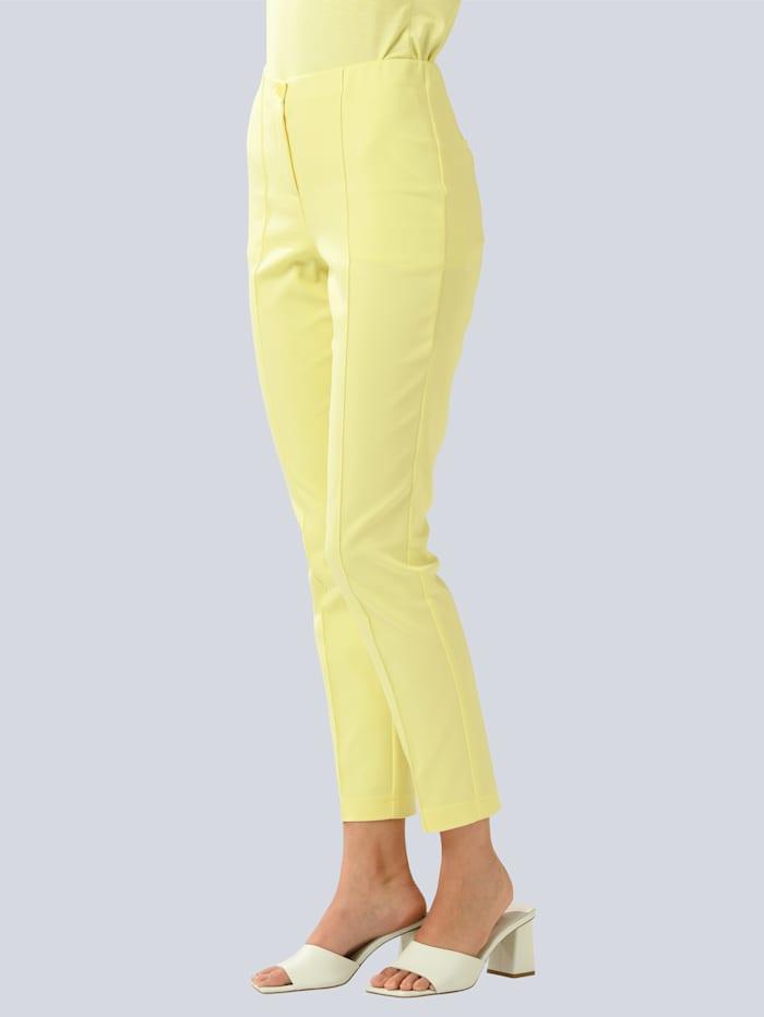 Alba Moda Broek in een zomerse kleur, Geel