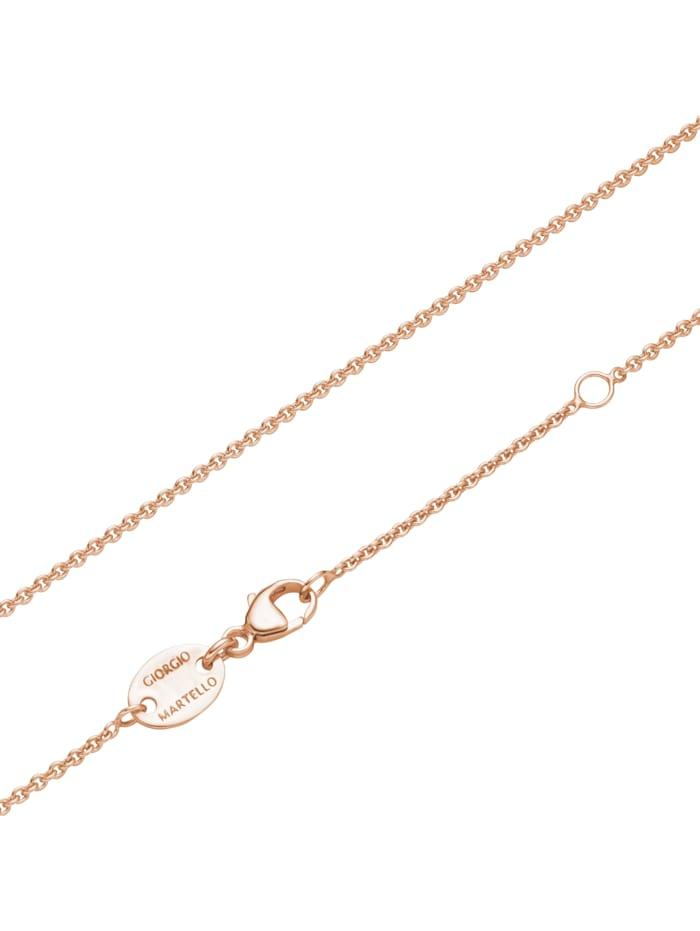 Collier verschienene Behänge, Zirkonia + Kristallsteine bunt, Silber 925