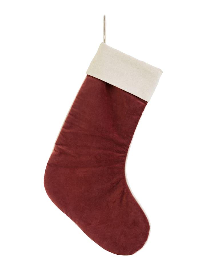 IMPRESSIONEN living Weihnachtssocke, rot/weiß