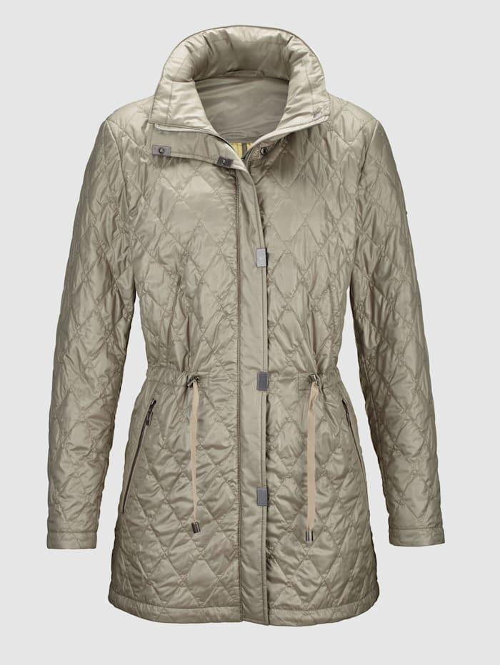 Gewatteerde jas van glanzend microfibre