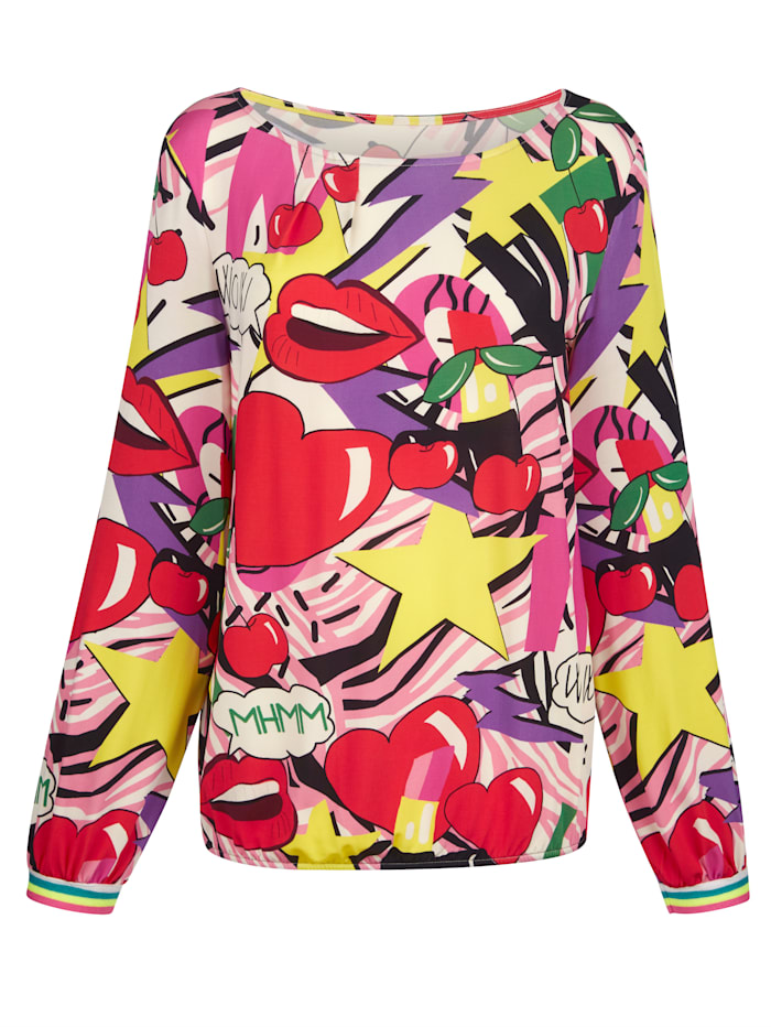 Shirt met moderne print