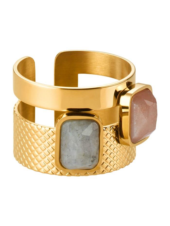 Zag Bijoux Ring, Gelbgoldfarben