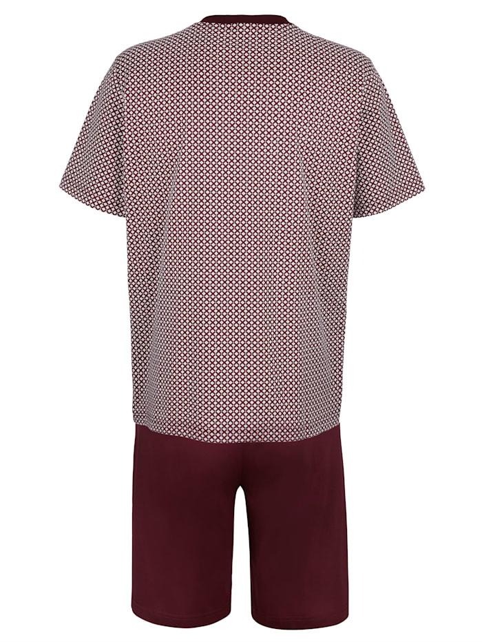 Pyjamas av mercerisert bomull