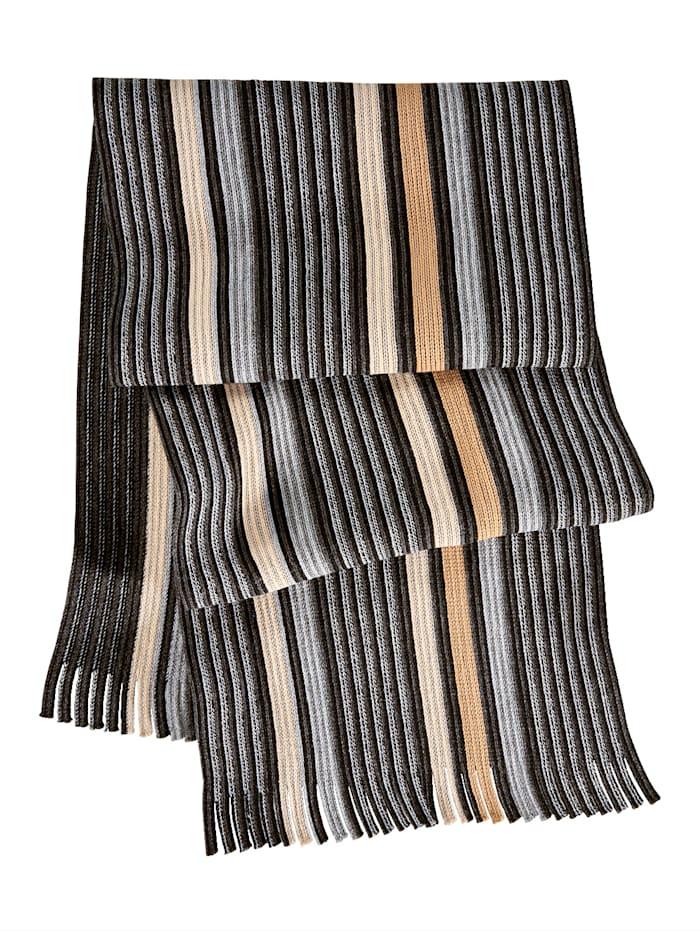 BABISTA Sjaal met franjes, grijs/beige