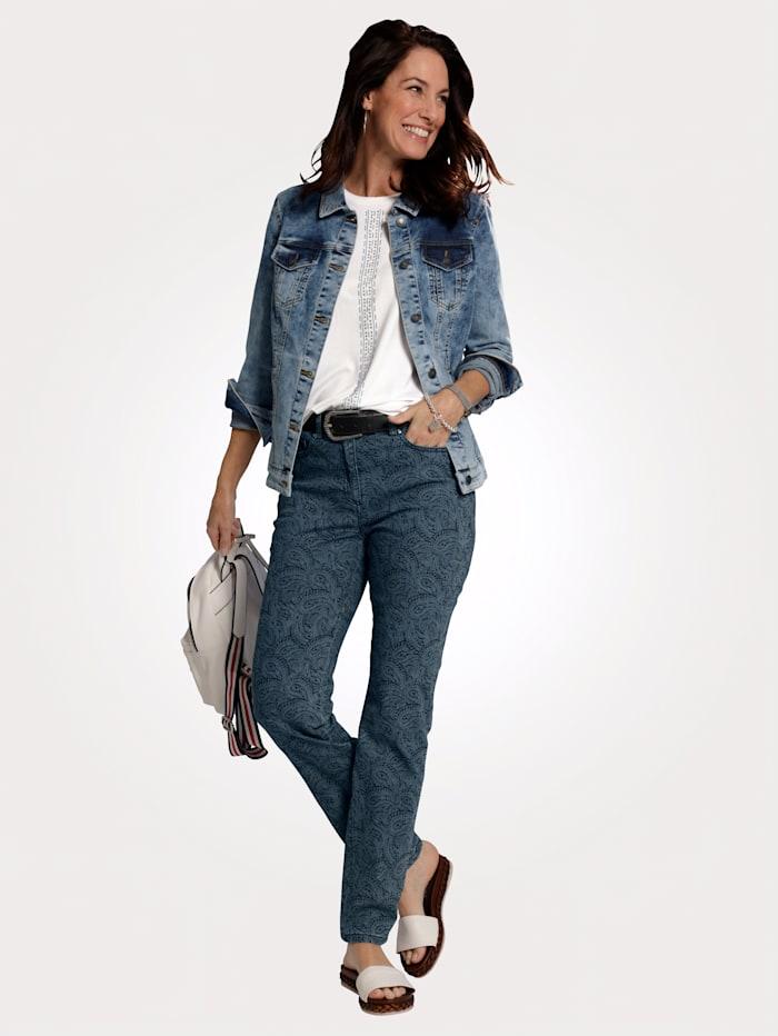 Jeansjacka med tvättade effekter